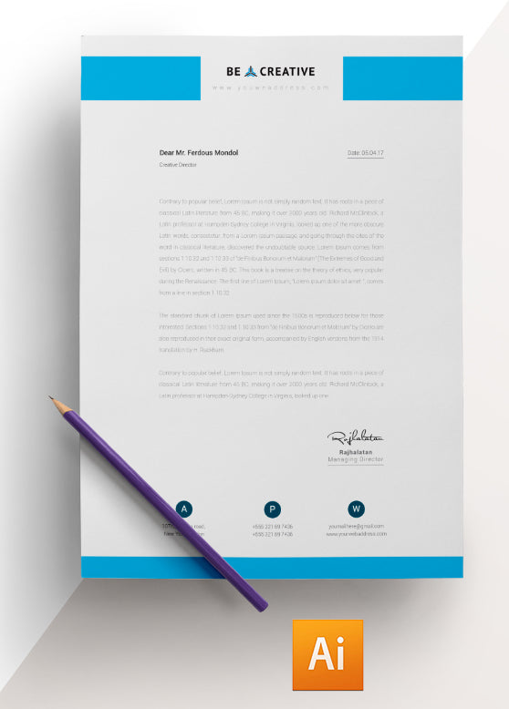 Corporate Letterhead Template  CityEsporaCo