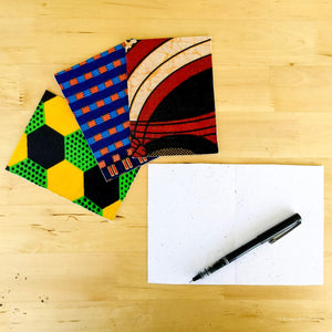 · Malawi textiles Greeting cards  - set of 2 - Ecotienda La Chiwi
