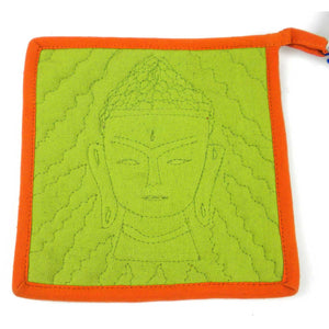 Buddha Hot Pad - Green & Orange - Ecotienda La Chiwi