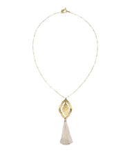 Nihira Ashram Window Necklace - Gold Tassel - Ecotienda La Chiwi