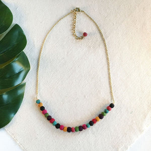 Kantha Delicate Sari Bead Necklace