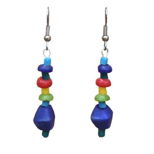 Glass Pebbles earrings - Rainbow - Ecotienda La Chiwi