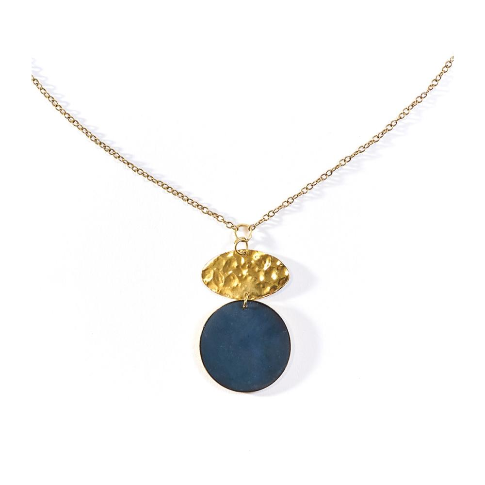 Ria Necklace - Cobalt Drop
