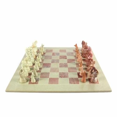 oos Soapstone Chess Set - Animal Savanna - Ecotienda La Chiwi