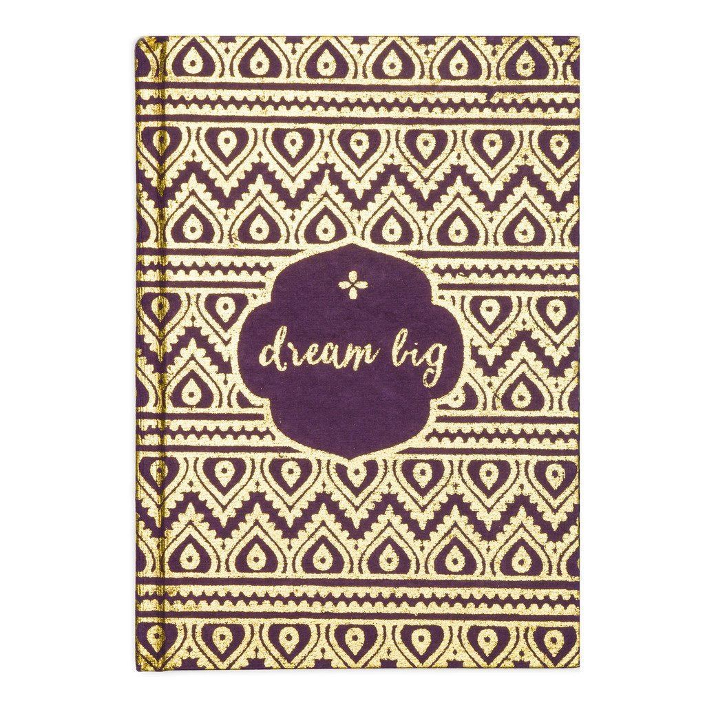 "Metallic Message Journal - ""Dream Big"" - Ecotienda La Chiwi"