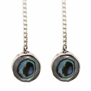 Threaded Chain Earring - Abalone