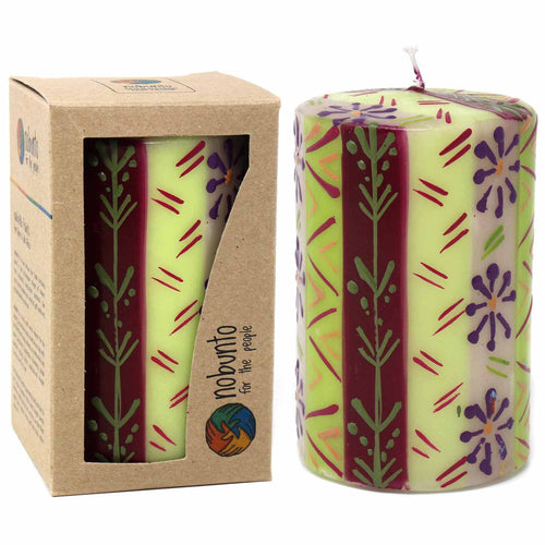 Hand Painted Candles - Kileo Design (pillar) - Ecotienda La Chiwi