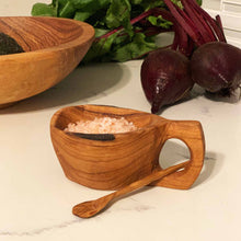 Olive Wood Salt Pot with Spoon