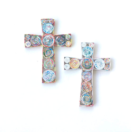 Recycled Paper Cross - small - Ecotienda La Chiwi