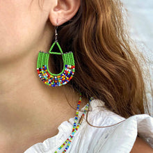 Maasai Bead Basket Dangle Earrings
