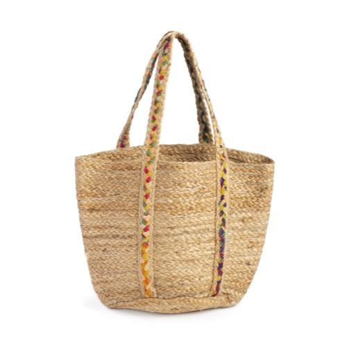 Chindi Handle Basket Tote