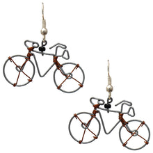 Wire Bicycle Earrings