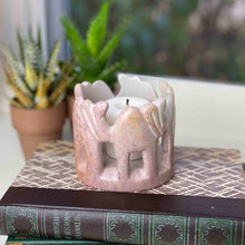 Circle of Elephants Soapstone Sculpture - Light