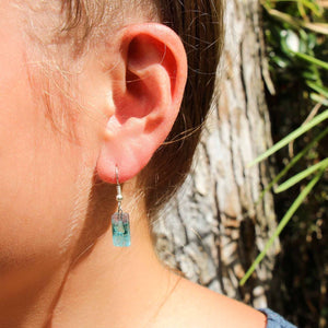 Small Glass Earrings - Pink Blue - Ecotienda La Chiwi