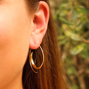 Brass Spiral Earrings - Rip Curl - Ecotienda La Chiwi