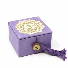 "Mini Meditation Bowl Box: 2"" Crown Chakra - Ecotienda La Chiwi"