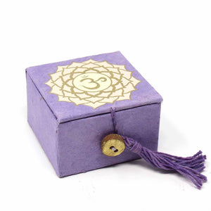 "2"" Mini Meditation Bowl Box - Crown Chakra - Ecotienda La Chiwi"