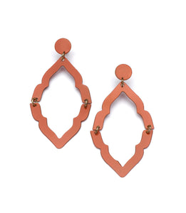Nihira Ashram Window Earring - Red - Ecotienda La Chiwi