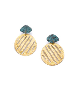 Nihira Earrings - Gold Medallion - Ecotienda La Chiwi