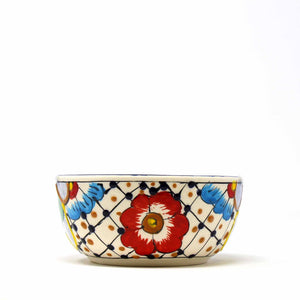 Half Moon Bowls - Dots & Flowers (set of 2) - Ecotienda La Chiwi