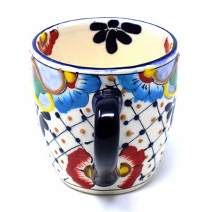 Rounded Mugs - Dots & Flowers (set of 2) - Ecotienda La Chiwi