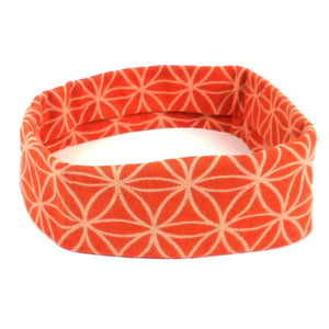 Flower of Life Yoga Headband - Orange