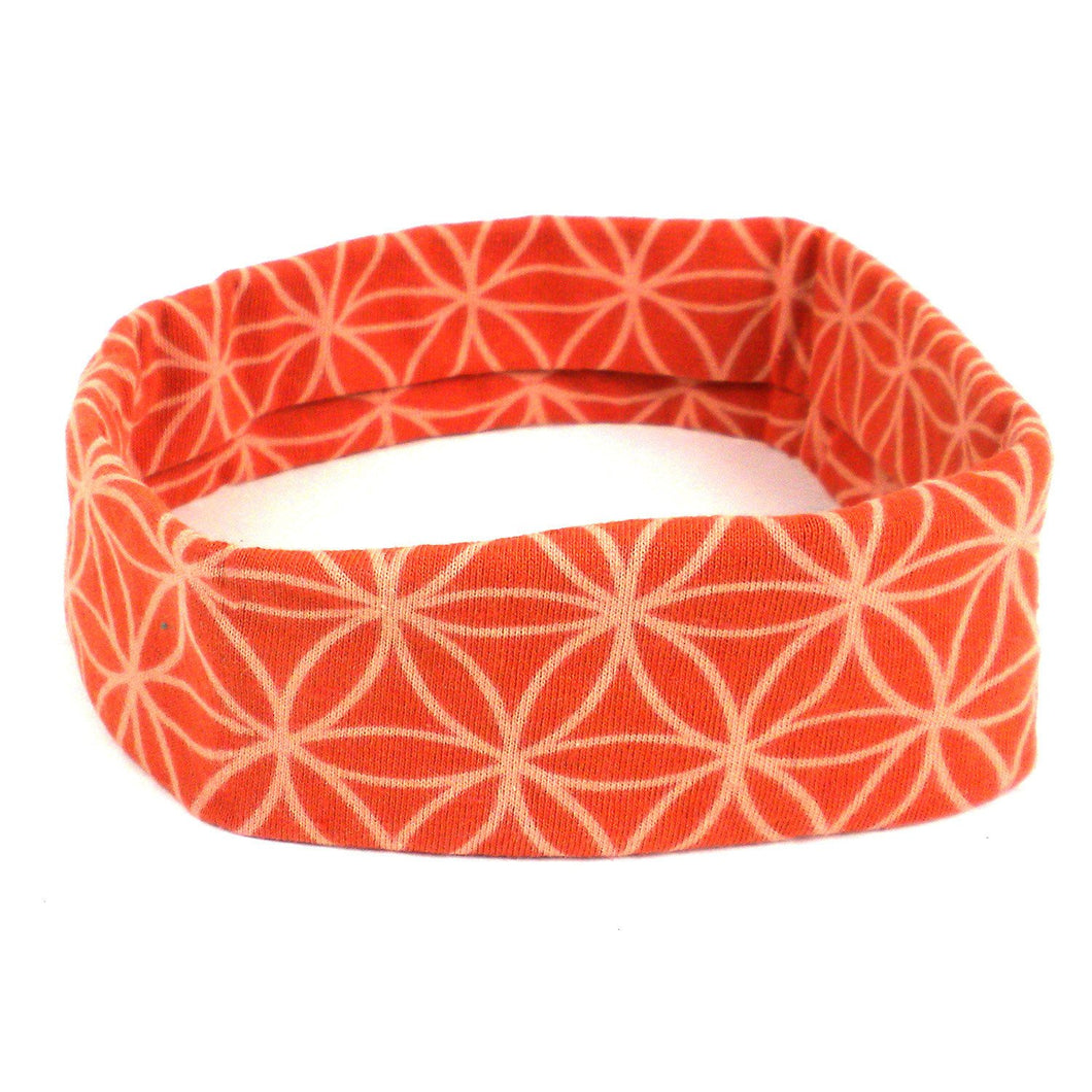 Flower of Life Yoga headband - Orange - Ecotienda La Chiwi