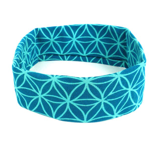 Flower of Life Yoga headband - Teal - Ecotienda La Chiwi