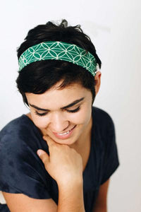 Flower of Life Yoga Headband - Green