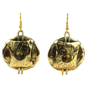 Brass Images Earrings - Ecotienda La Chiwi