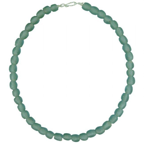 Glass Bead necklace - Sky Blue Pearl - Ecotienda La Chiwi