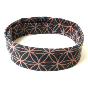 Flower of Life Yoga Headband - Grey