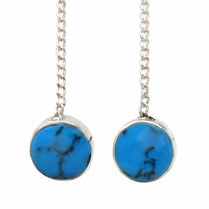 Threaded Chain Earring - Turquoise