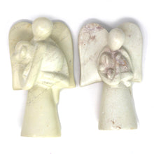 Angel Soapstone Sculpture - Holding Dog