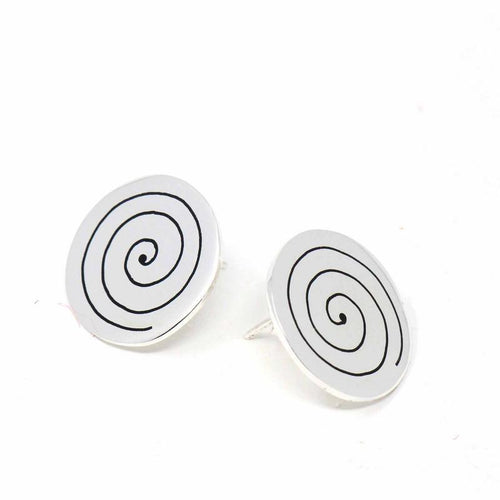 Stud Earrings - Spirals