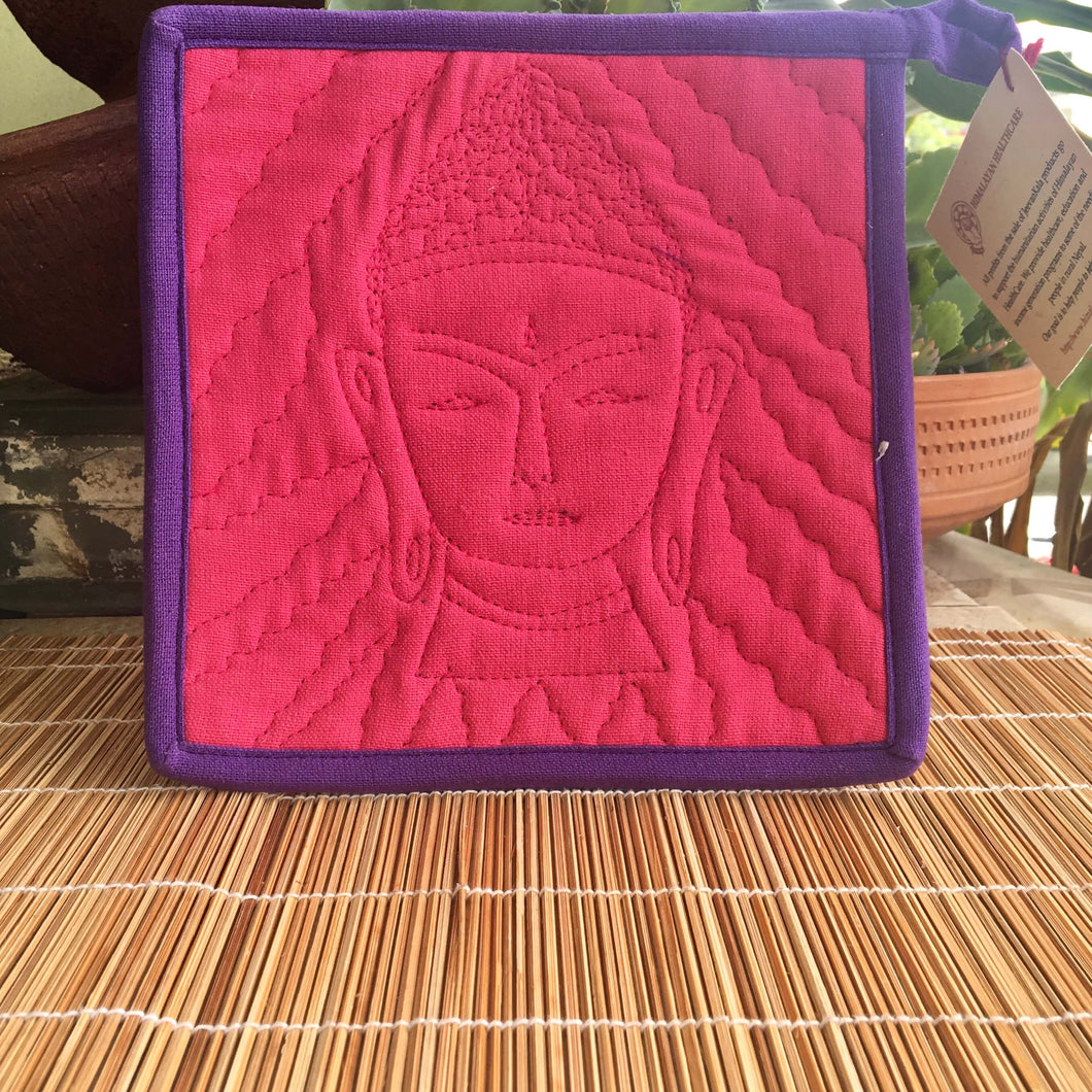 Buddha Hot Pad - Pink & Purple