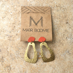Nihira Earrings - Gold Footprint - Ecotienda La Chiwi