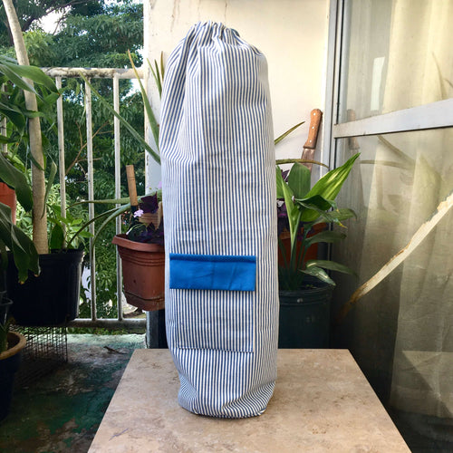 "Durable Yoga Mat Carrier ""Blue Drishti"""