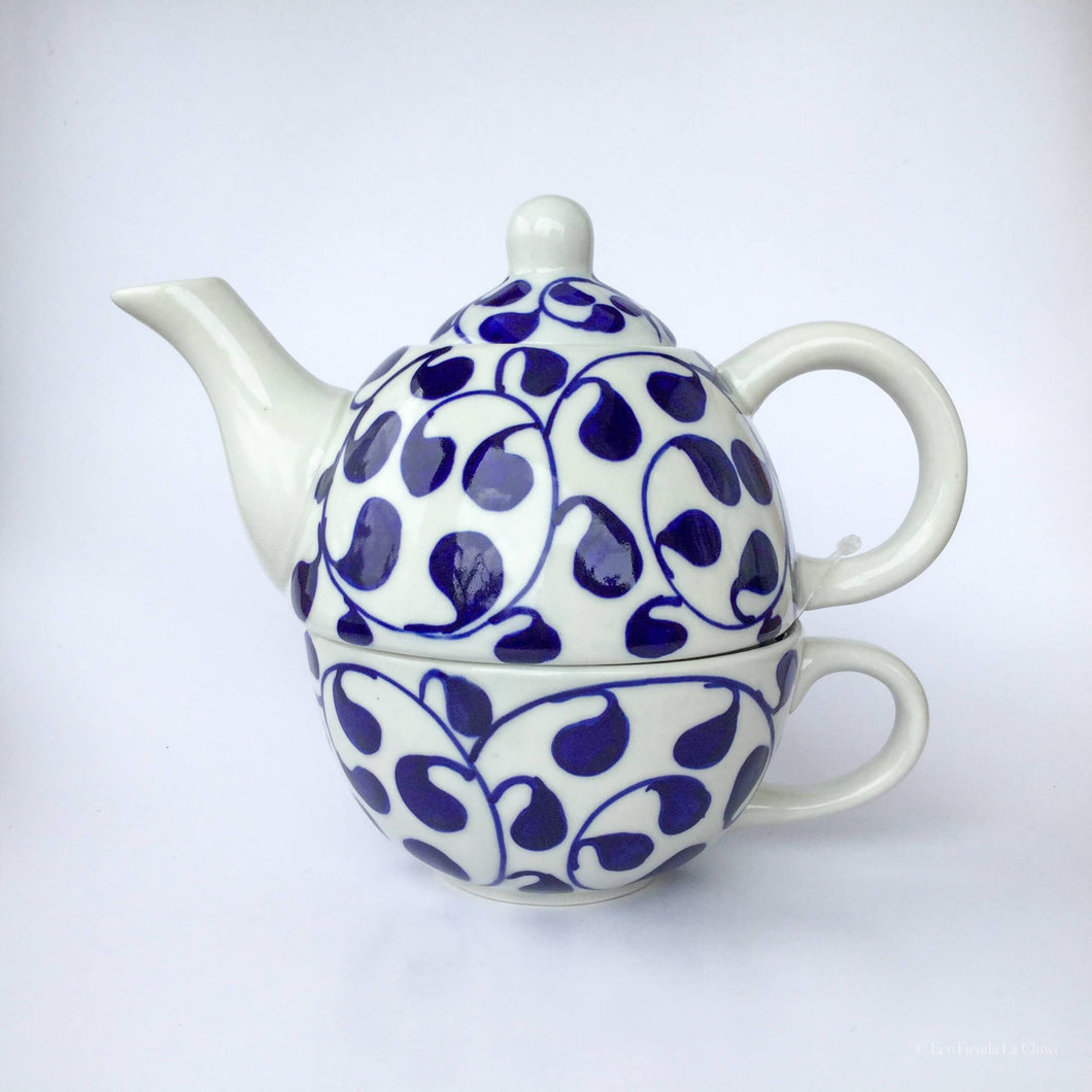 · Blue and White Tea for One - EcoTienda La Chiwi