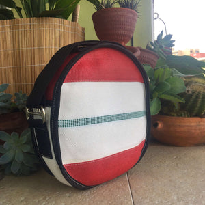 Round Shoulder Bag - Firehose