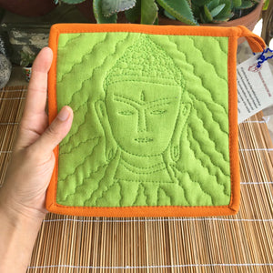 Buddha Hot Pad - Green & Orange