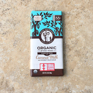 Organic Chocolate bar - Coconut Milk (55 % cacao)