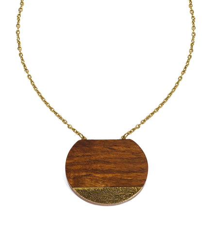 Earth and Fire Eclipse Necklace - Ecotienda La Chiwi