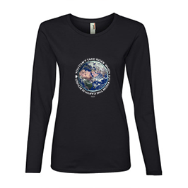 Women's Black Long Sleeved fitted White lettered