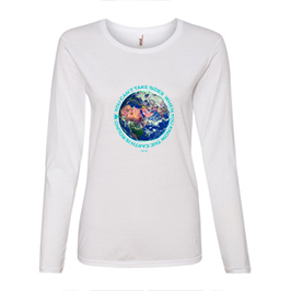 Women's White Long Sleeved fitted Åqua lettered