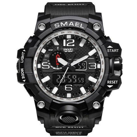 12 Watch Store Black Silver CONQUEROR® Tactical Watch - Waterproof & Shockproof