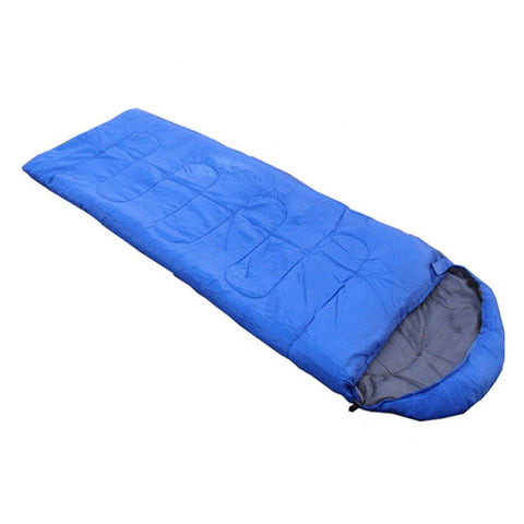 JHO-Outdoor Waterproof Travel Envelope Sleeping Bag Camping Hiking Carrying Case Blue