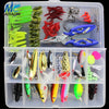 Image of JIADIAONI 100 Pieces Carp Fishing Lure Set Spinner Metal Bait Fly Fishing Wobblers Minnow Crankbait Lures Cheap Fishing Tackle