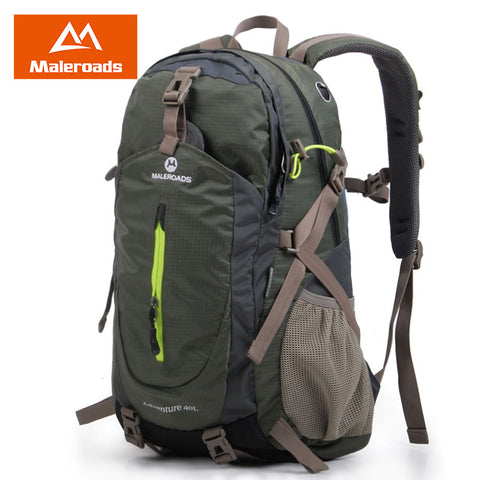 Maleroads Women Men Backpack Daily Backpack Outdoor Travel Backpack Climb knapsack Camp Hike Rucksack DayPack 40L Laptop Mochila