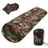 Image of New Sale High quality Cotton Camping sleeping bag,15~5degree, envelope style, army or Military or camouflage sleeping bags